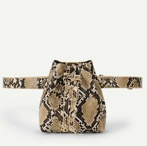 Handbags - 2/$22 — Mini Snake Print Bucket Waist / Bum Bag